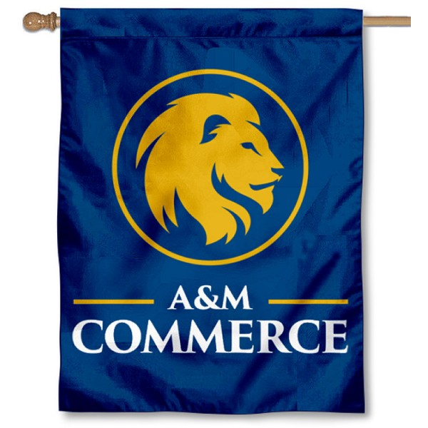 Texas A&M Commerce Lions Double Sided House Flag is a vertical house flag which measures 30x40 inches, is made of 2 ply 100% polyester, offers screen printed NCAA team insignias, and has a top pole sleeve to hang vertically. Our Texas A&M Commerce Lions Double Sided House Flag is officially licensed by the selected university and the NCAA.