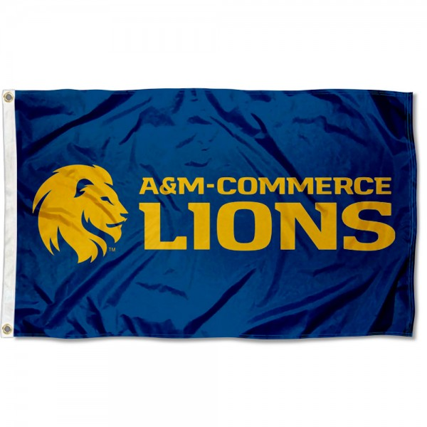 Texas A&M Commerce Lions Flag measures 3x5 feet, is made of 100% polyester, offers quadruple stitched flyends, has two metal grommets, and offers screen printed NCAA team logos and insignias. Our Texas A&M Commerce Lions Flag is officially licensed by the selected university and NCAA.