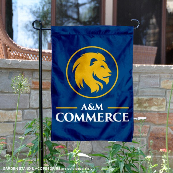 Texas A&M Commerce Lions Gold Lion Garden Flag is 13x18 inches in size, is made of 2-layer polyester, screen printed university athletic logos and lettering, and is readable and viewable correctly on both sides. Available same day shipping, our Texas A&M Commerce Lions Gold Lion Garden Flag is officially licensed and approved by the university and the NCAA.