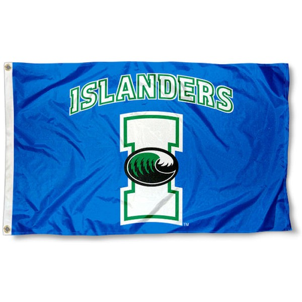 Texas A&M Corpus Christi Islanders Flag measures 3x5 feet, is made of 100% polyester, offers quadruple stitched flyends, has two metal grommets, and offers screen printed NCAA team logos and insignias. Our Texas A&M Corpus Christi Islanders Flag is officially licensed by the selected university and NCAA.