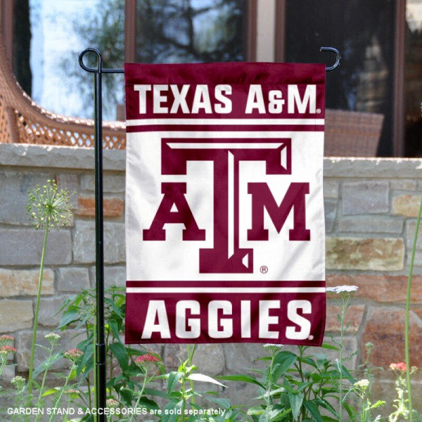 Texas A&M Garden Flag is 13x18 inches in size, is made of 2-layer polyester, screen printed logos and lettering. Available with Same Day Express Shipping, Our Texas A&M Garden Flag is officially licensed and approved by the NCAA.