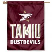 Texas A&M International Dustdevils Logo Double Sided House Flag