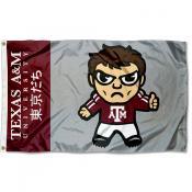 Texas A&M Kawaii Tokyodachi Yuru Kyara Flag