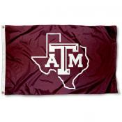 Texas A&M Lone Star Logo Flag