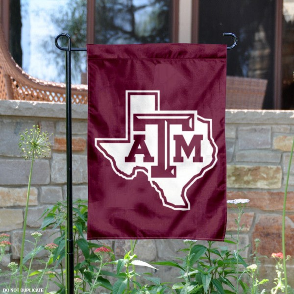Texas A&M Lone Star Logo Garden Flag is 13x18 inches in size, is made of 2-layer polyester, screen printed Texas A&M Lone Star athletic logos and lettering. Available with Same Day Express Shipping, Our Texas A&M Lone Star Logo Garden Flag is officially licensed and approved by Texas A&M Lone Star and the NCAA.