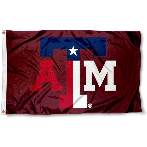 Texas A&M State Colors Flag measures 3x5 feet, is made of 100% polyester, offers quadruple stitched flyends, has two metal grommets, and offers screen printed NCAA team logos and insignias. Our Texas A&M State Colors Flag is officially licensed by the selected university and NCAA