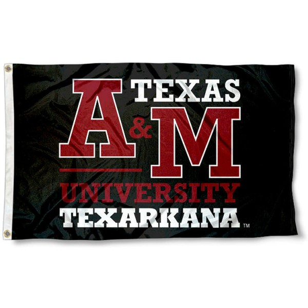 Texas A&M Texarkana Eagles Black Flag measures 3x5 feet, is made of 100% polyester, offers quadruple stitched flyends, has two metal grommets, and offers screen printed NCAA team logos and insignias. Our Texas A&M Texarkana Eagles Black Flag is officially licensed by the selected university and NCAA.