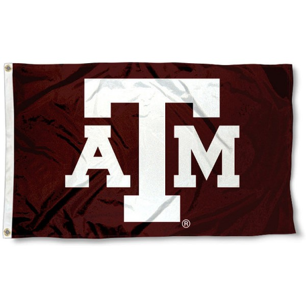 Texas A&M University 3x5 Flag measures 3'x5', is made of 100% poly, has quadruple stitched sewing, two metal grommets, and has double sided Texas A&M University logos. Our Texas A&M University 3x5 Flag is officially licensed by the selected university and the NCAA