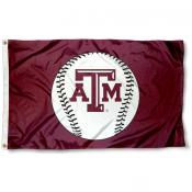 Texas A&M University Baseball Flag