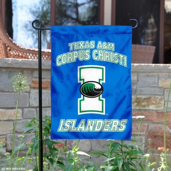 Texas A&M University Corpus Christi Garden Flag is 13x18 inches in size, is made of 2-layer polyester, screen printed university athletic logos and lettering, and is readable and viewable correctly on both sides. Available same day shipping, our Texas A&M University Corpus Christi Garden Flag is officially licensed and approved by the university and the NCAA.