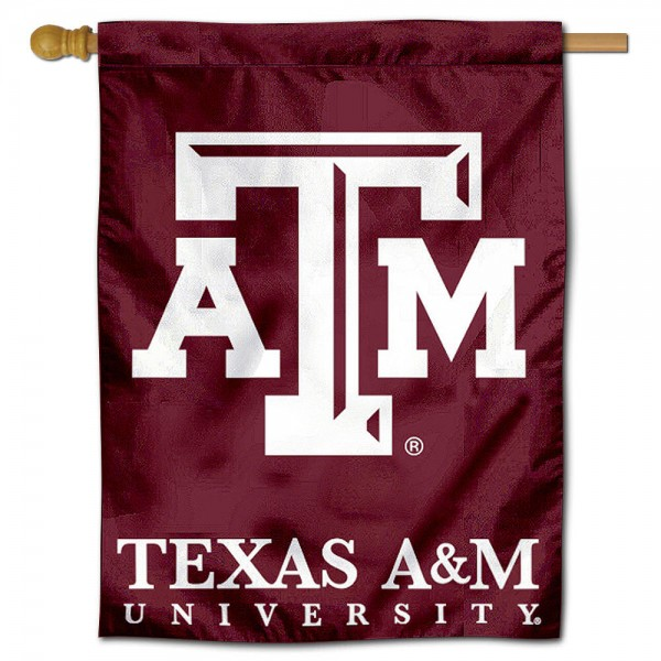 "Texas A&M University Decorative Flag is constructed of polyester material, is a vertical house flag, measures 28""x40"", offers screen printed athletic insignias, and has a top pole sleeve to hang vertically. Our Texas A&M University Decorative Flag is Officially Licensed by Texas A&M University and NCAA."