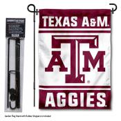 Texas A&M University Garden Flag and Stand