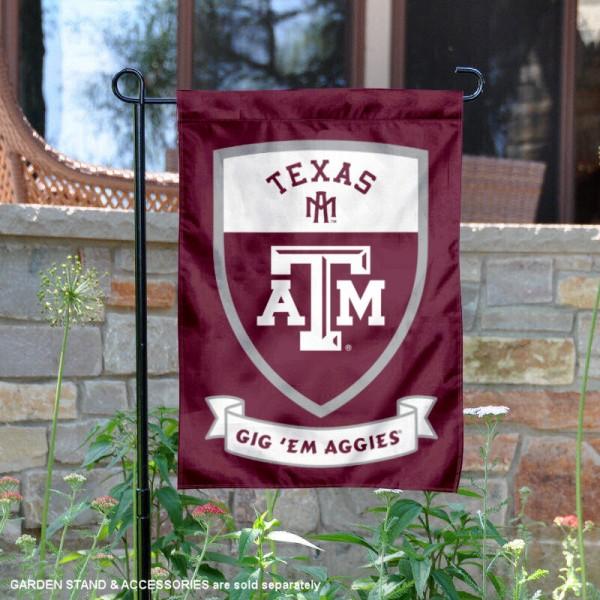 Texas A Amp M University Gig Em Aggies Shield Garden Flag