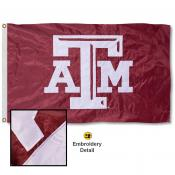Texas A&M University Nylon Embroidered Flag