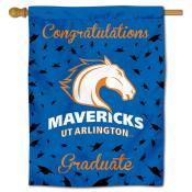 Texas Arlington Mavericks Congratulations Graduate Flag