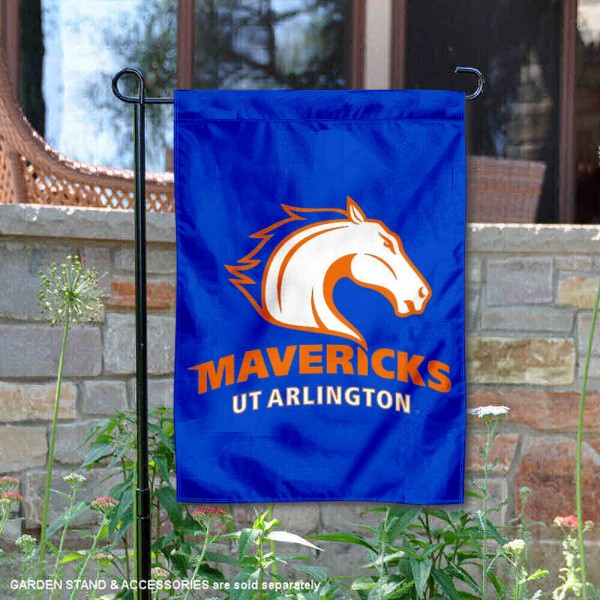 Texas Arlington Mavericks Garden Flag is 13x18 inches in size, is made of 2-layer polyester, screen printed university athletic logos and lettering, and is readable and viewable correctly on both sides. Available same day shipping, our Texas Arlington Mavericks Garden Flag is officially licensed and approved by the university and the NCAA.