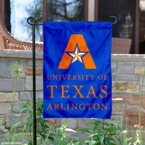 Texas Arlington Mavericks Garden Flag is 13x18 inches in size, is made of 2-layer polyester, screen printed University of Texas at Arlington athletic logos and lettering. Available with Same Day Express Shipping, Our Texas Arlington Mavericks Garden Flag is officially licensed and approved by University of Texas at Arlington and the NCAA.