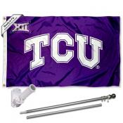 Texas Christian Horned Frogs Big 12 Flag Pole and Bracket Kit