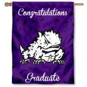Texas Christian Horned Frogs Congratulations Graduate Flag
