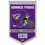 Texas Christian Horned Frogs Football National Champions Banner