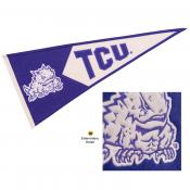 Texas Christian Horned Frogs Genuine Wool Pennant