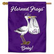 Texas Christian Horned Frogs New Baby Flag