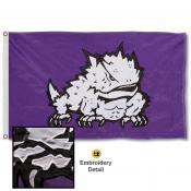 Texas Christian Horned Frogs Nylon Embroidered Flag