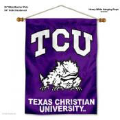 Texas Christian Horned Frogs Wall Banner