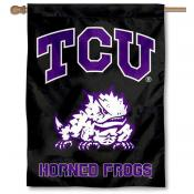 Texas Christian TCU Black Banner Flag
