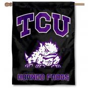 Texas Christian TCU Black Banner Flag