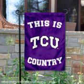 Texas Christian University Country Garden Flag