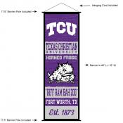 Texas Christian University Decor and Banner