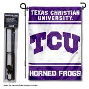 Texas Christian University Garden Flag and Stand