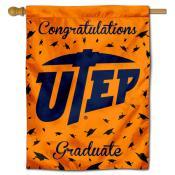 Texas El Paso Miners Congratulations Graduate Flag