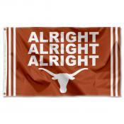 Texas Longhorns Alright Alright Alright Logo Flag