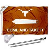 Texas Longhorns Come and Take It Flag Pole and Bracket Kit