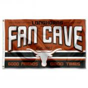 Texas Longhorns Fan Man Cave Game Room Banner Flag