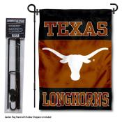 Texas Longhorns Garden Flag and Pole Stand Mount
