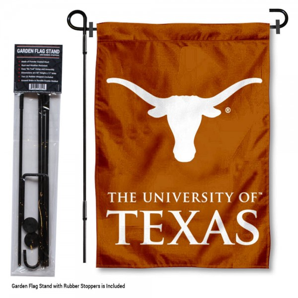 Texas Longhorns Garden Flag and Stand