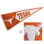 Texas Longhorns Genuine Wool Pennant