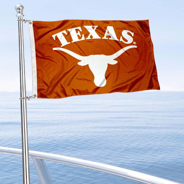 Texas Longhorns Golf Cart Flag is a small 12x18 inches, made of 2-ply polyester with quad stitched flyends, and is double-sided. Our Golf Cart Logo Flags are Officially Licensed and Approved by University of Texas and NCAA.