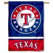 Texas Rangers Double Sided House Flag