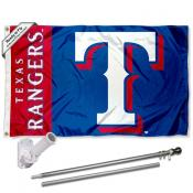 Texas Rangers Flag Pole and Bracket Kit