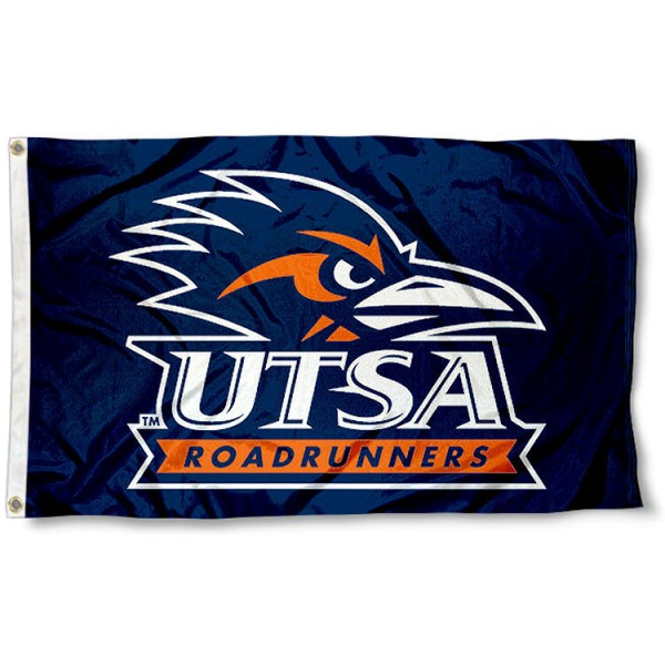 Texas San Antonio Flag measures 3'x5', is made of 100% poly, has quadruple stitched sewing, two metal grommets, and has double sided University of Texas San Antonio logos. Our UTSA Flag is officially licensed by the selected university and the NCAA