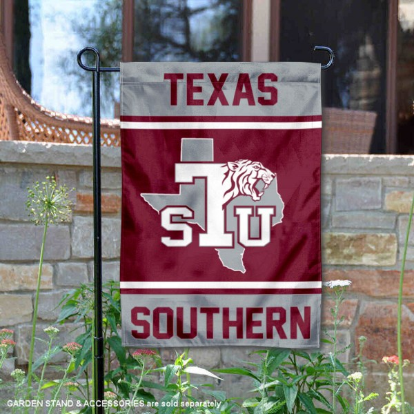Texas Southern Tigers Garden Flag is 13x18 inches in size, is made of 2-layer polyester, screen printed logos and lettering. Available with Same Day Express Shipping, Our Texas Southern Tigers Garden Flag is officially licensed and approved by the NCAA.