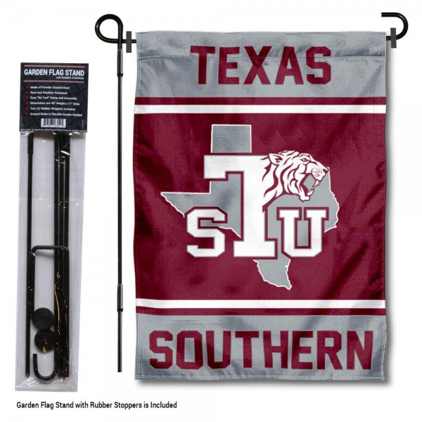 Texas Southern Tigers Garden Flag and Pole Stand Holder