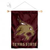 Texas State Bobcats Banner with Suction Cup