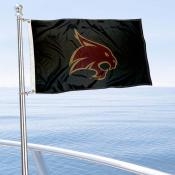 Texas State Bobcats Boat and Mini Flag