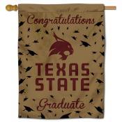 Texas State Bobcats Congratulations Graduate Flag