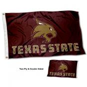 Texas State Bobcats New Logo Double Sided Flag